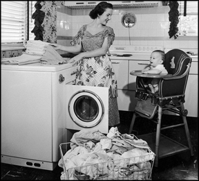 woman-laundry-with-baby
