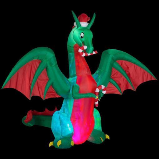 blow-up holiday dragon