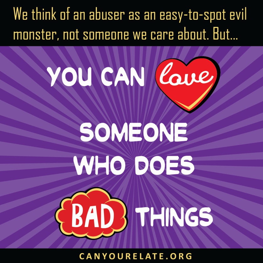 you can love someone who does bad things