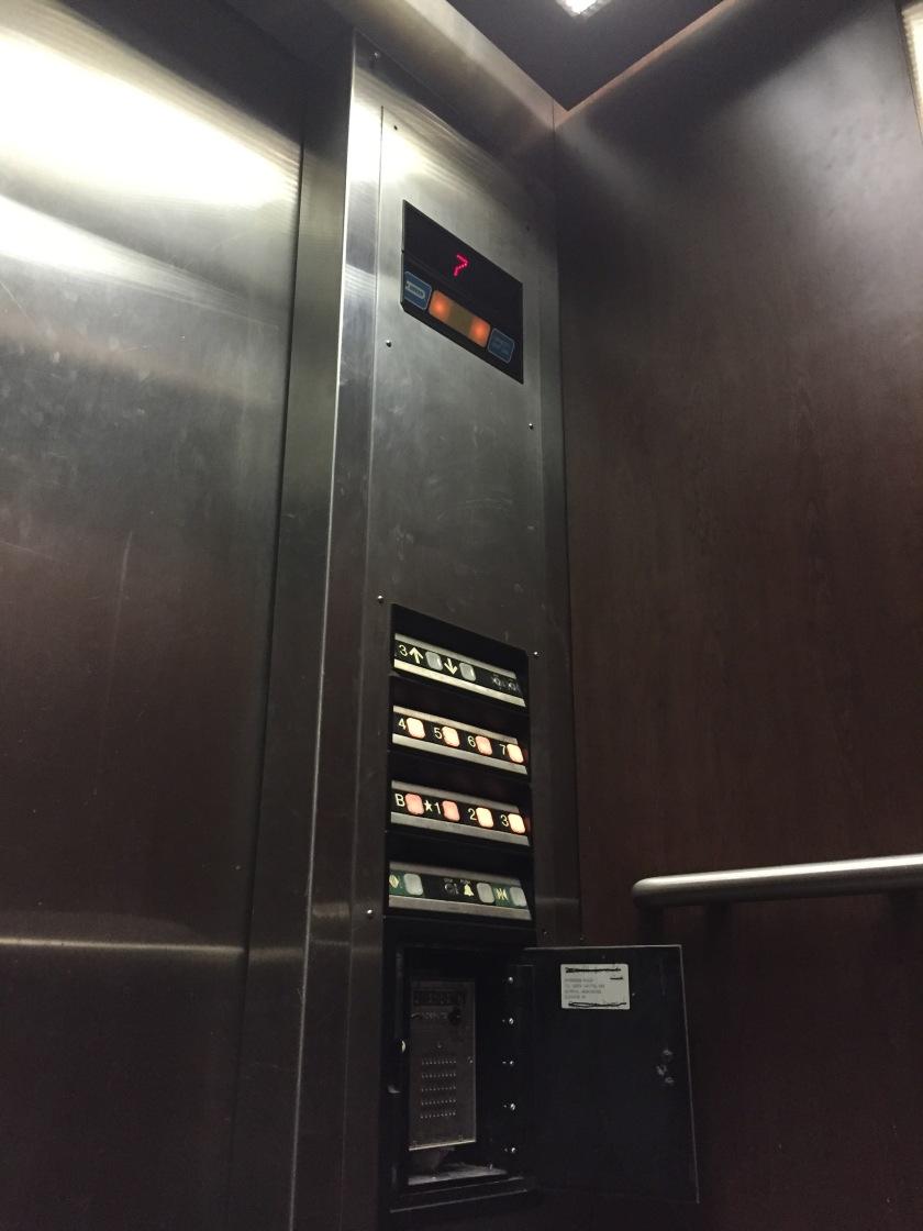 stuck in elevator