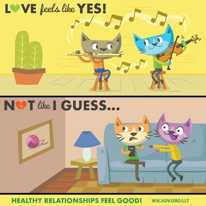 love feels like yes not I guess