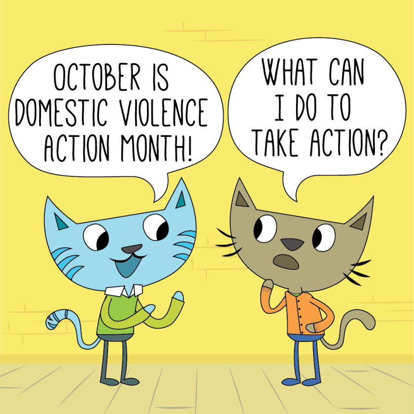 October is DV Action month! What can I do to take action?